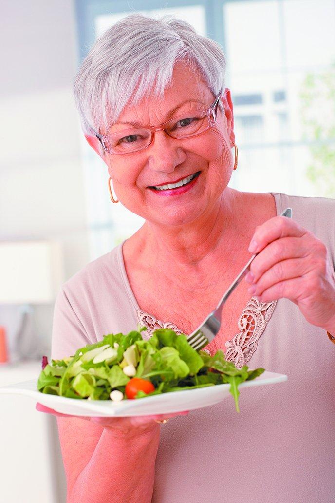 Salad Eating Woman
