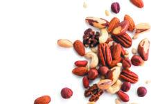 cashew, pecan, pine nuts, hazelnut isolated