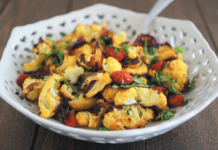 TURMERIC ROASTED CAULIFLOWER WITH TOMATOES