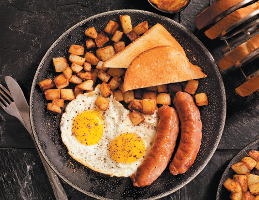 Make the most of breakfast by swapping out processed meats, refined carbohydrates, saturated fats, and fried potatoes for fruits, vegetables, whole grains, and beans.