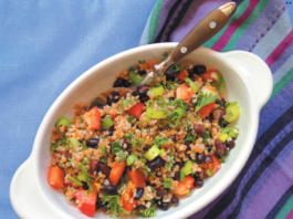 Black Bean Bulgar Orange Salad