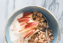 Flavor plain yogurt with anything you like, from cinnamon, fruit, and granola to cucumber and dill.